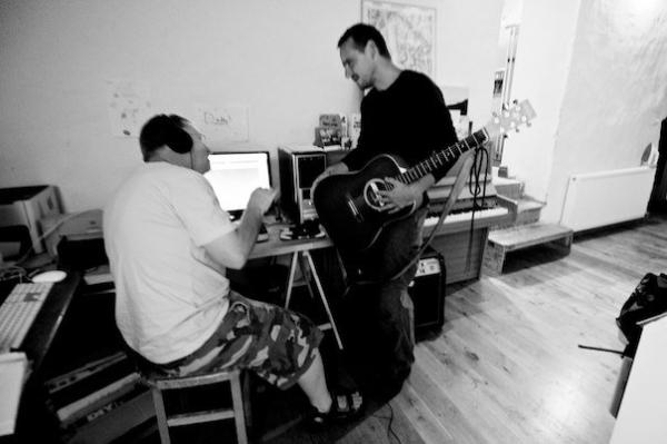 Mike Howe in the studio