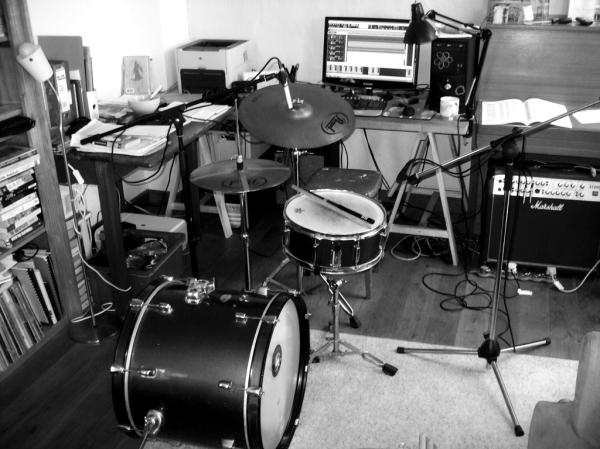 Studio recording bw