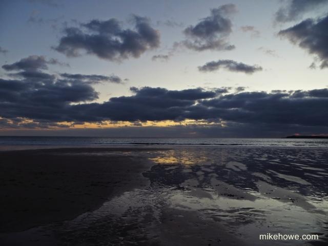 Western skies at twilight